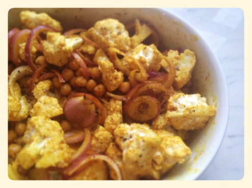 Roasted Cauliflower and Chick Peas